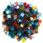 Mosaik Eis transparent/irisierend, 1000 g bunt-mix