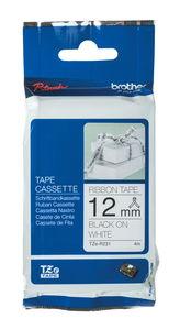 Brother TZe Textilbandkassette, schwarz/weiß