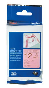 Brother TZe Textilbandkassette, gold/rosa