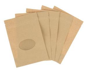 Zippertüten, 5 Stück braun  (11 x 16 x 6 cm)