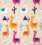 BeaLena katoenen stof met alpaca's (50 x 80 cm)