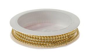 Guirlande de perles 2mm x 2m, doré