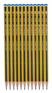 Crayons graphites Staedtler, dureté H, 12 pièces