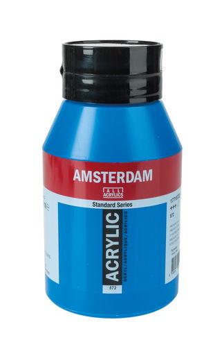 Peinture Acrylique Amsterdam 1000 Ml Bleu Primaire Opitec