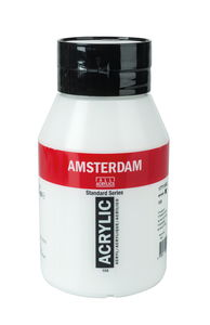 Peinture acrylique Amsterdam 1000 ml, blanc titane