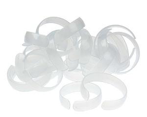 Kunststoff-Armreif für Kinder, 25 Stück weiß (6cm)