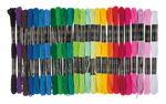 Hilo para bordar, 25 madejas de 8m, 25 colores