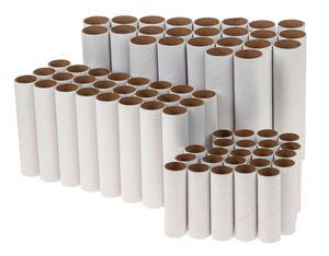 Papprollen weiß, 72er-Set verschiedene Größen