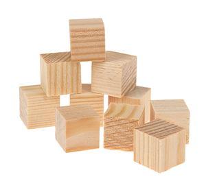 Cubes en bois -2ème choix-, 15 x 15 mm