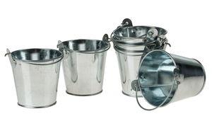 Metall-Eimer, 6 Stück mini (5,5 x 5 cm)