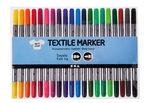 Feutres couleurs pour textile, 20 pièces