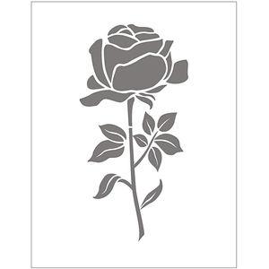 Prägeschablone Rose   (11 x 14 cm)
