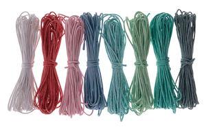 Cordel de algodón encerado, lote de 8 ud. colorido