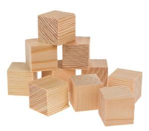 Cubes en pin -2ème choix- , 20 x 20 mm, 10 pièces
