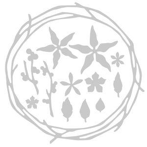 Sizzix® Thinlits[TM] Die 13pk - Pretty Wreath