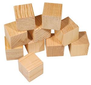 Cubes en pin -2ème choix- , 25 x 25 mm, 10 pièces