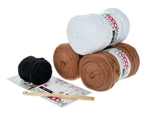 Set crochet Hooked Ribbon Xl, coussin renard