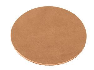 Dessous de plat/verre rond en cuir (83 mm)