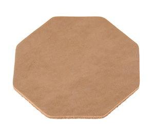 Leren onderzetter - zeshoek (83 mm)