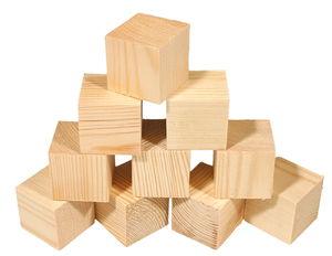 Grenen blokken (2e keus) 40 x 40 x40 mm, 10 stuks