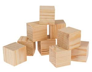 Cubos de pino de 2ª sel. (50 x 50 x 50 mm)10 ud.