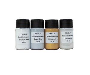 Peinture crème pour pochoirs (4x20ml)