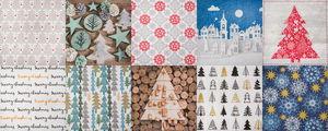 Set de serviettes -  Noël, 10 motifs