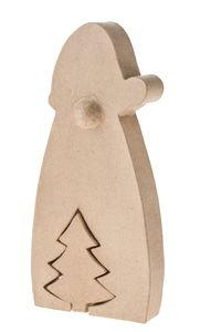 Paper-Art kerstman met kerstboom (26x 12,5 x 4cm)