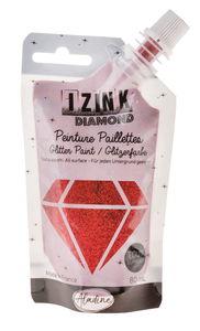 Izink Diamond glitterverf (80 ml) rood