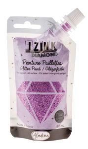 Izink Diamond Glitzerfarbe, 80 ml lila