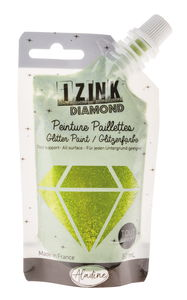 Izink Diamond glitterverf (80 ml) groen