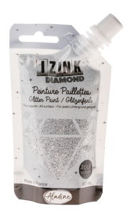 IZINK DIAMOND - couleurs paillettes, 80ml, argenté