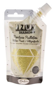 IZINK DIAMOND - couleurs paillettes, 80 ml, or