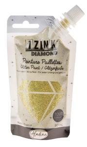 Izink Diamond Glitzerfarbe, 80 ml gold