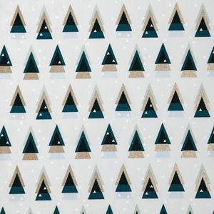 Tissu en coton Rico Design® , sapin graphique ment