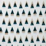 Tela de algodón - Abetos (50 x 140 cm) menta/oro