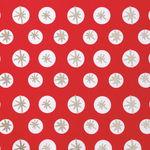 Tissu en coton Rico Design® , Flocons de neige rou