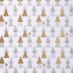 Tissu en coton Rico Design® , sapins graphiques bl
