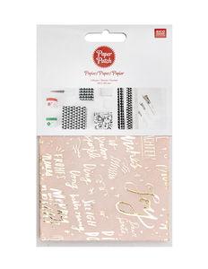 Papier Paper Patch Rico Design® , Lettre rose / or