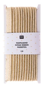 Paspelband gold (10 mm x 3 m)