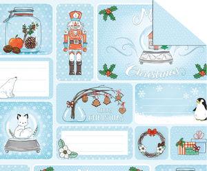 Fotokarton - Winter kerstmis (49,5 x 68 cm) 1 vel