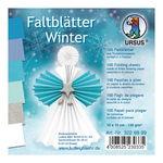 Faltblätter Winter, 100 Blatt, 6 Farben (10x10 cm)