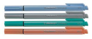 STABILO PointMax Filzschreiber pastell, 4er-Set