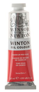 W&N Winton Ölfarbe, 37 ml kadmiumrot