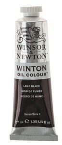 W&N Winton olieverf (37 ml) carbon zwart