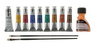 W&N Winton Ölfarben Set + Zubehör, 12-teilig