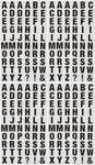 Alfabet stickers (10 x 10 mm) zwart, 240 stuks