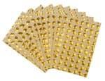 Glitter sticker vellen - blaadjes, 10 vel, goud