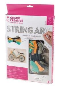 Bastelset - String Art Fahrrad, 6-teilig