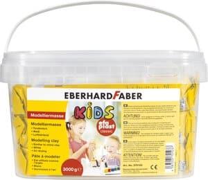 Boetseerklei efaplast Kids, 3 x 1000 g, wit